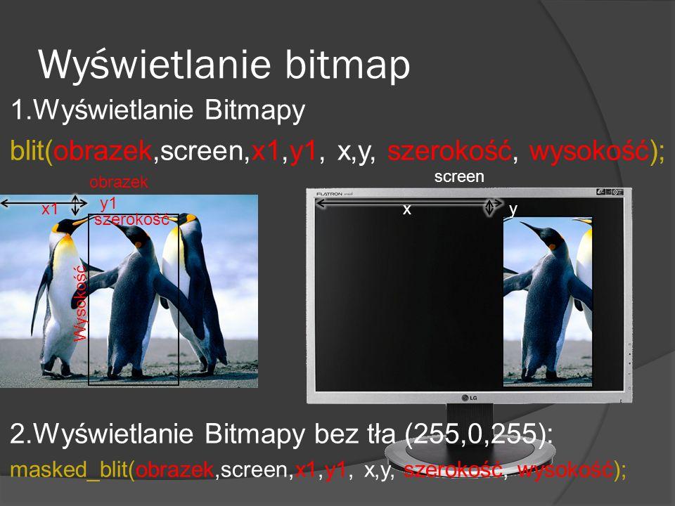 Wyświetlanie bitmap 1.Wyświetlanie Bitmapy