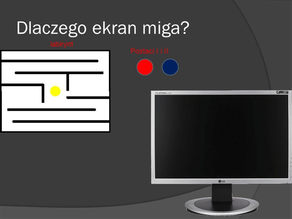 Dlaczego ekran miga labirynt Postaci I i II