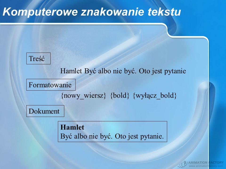 Komputerowe znakowanie tekstu