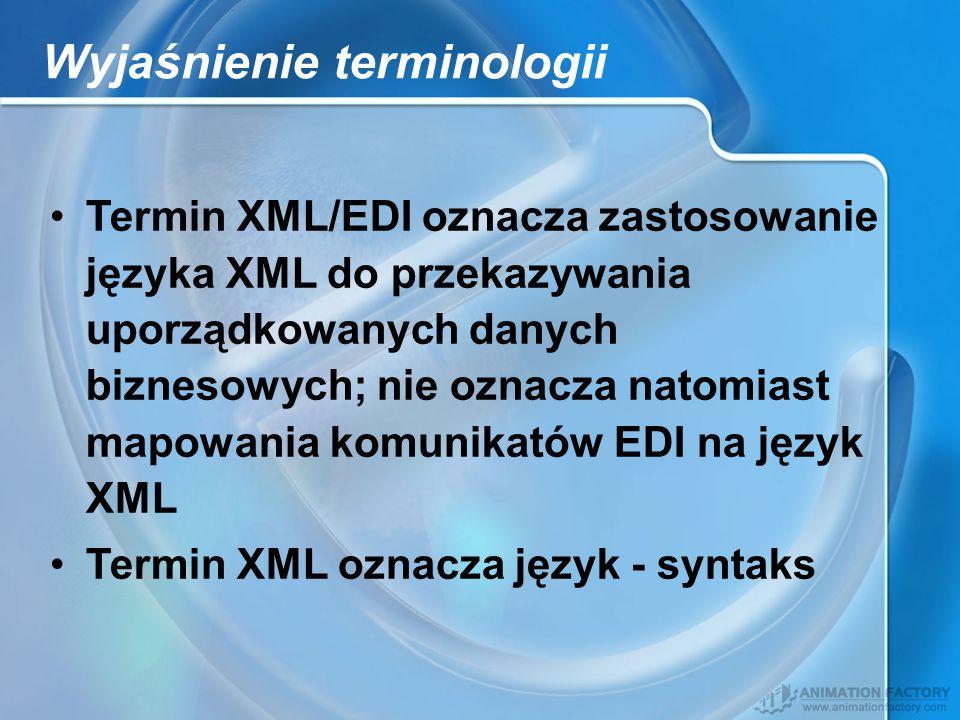 Wyjaśnienie terminologii