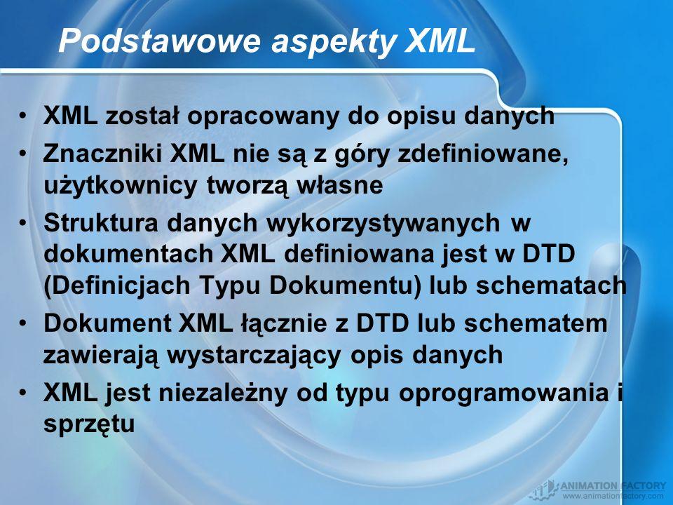 Podstawowe aspekty XML