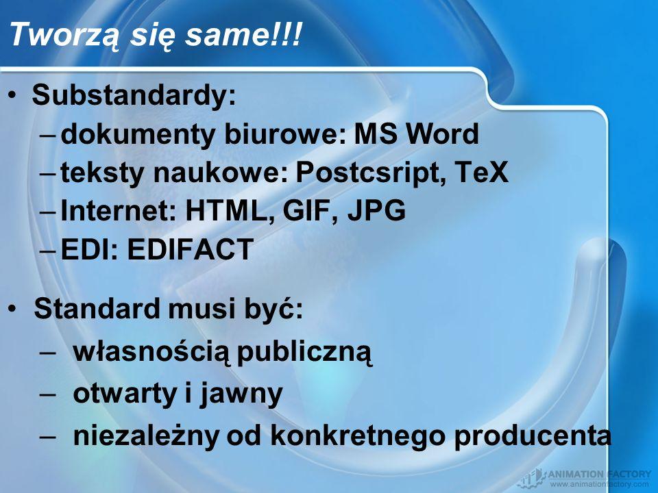 Tworzą się same!!! Substandardy: dokumenty biurowe: MS Word