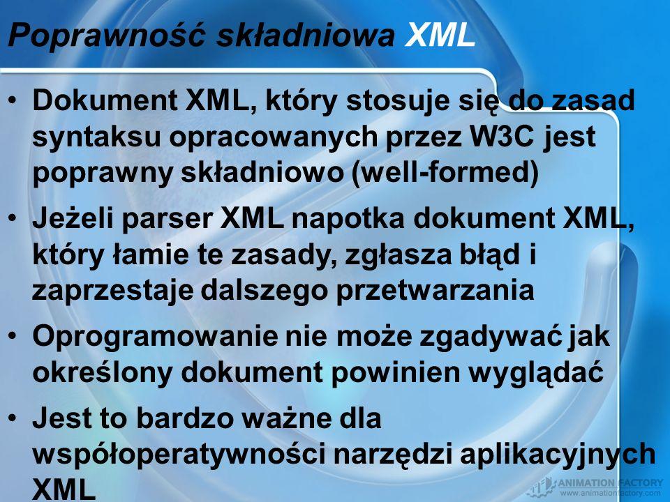 Poprawność składniowa XML