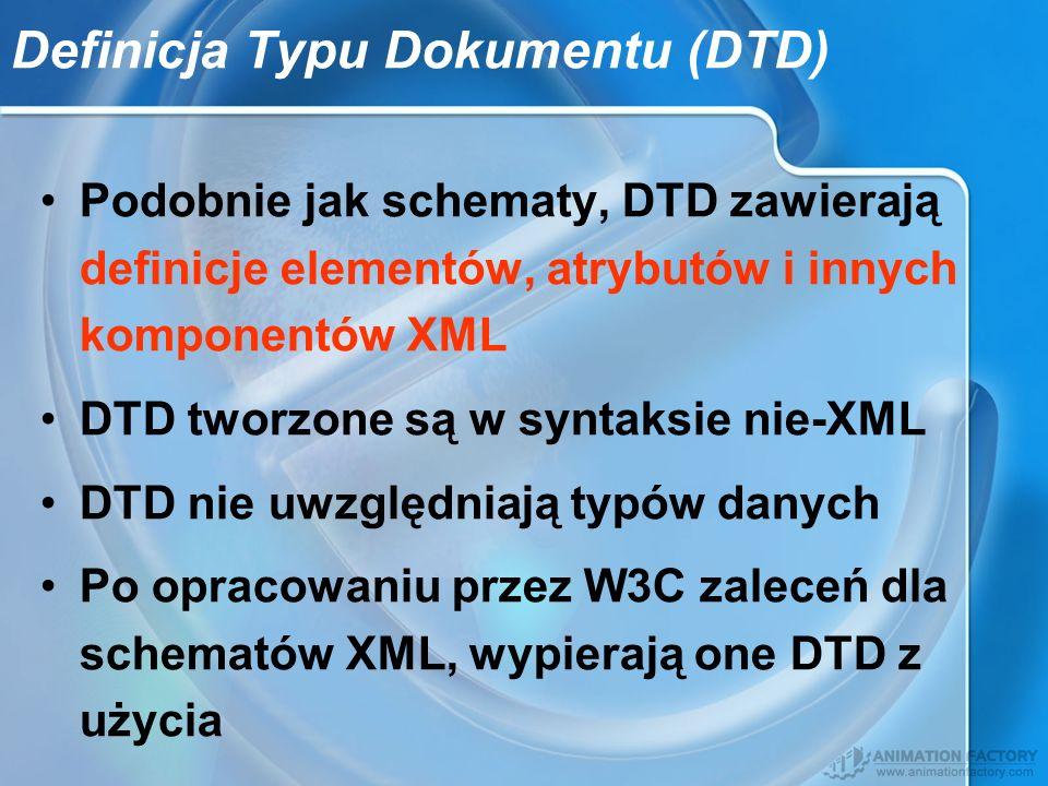 Definicja Typu Dokumentu (DTD)
