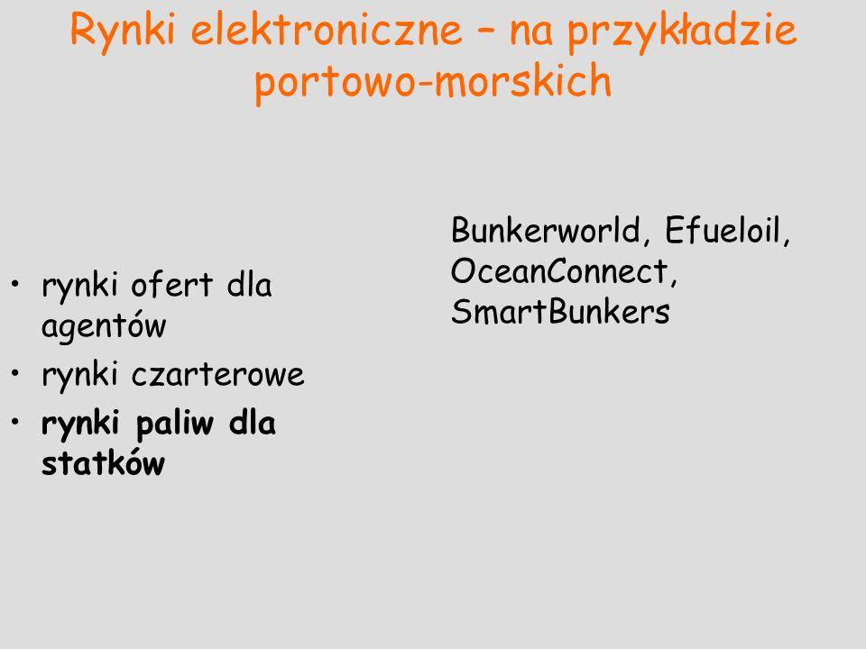 Rynki elektroniczne – na przykładzie portowo-morskich