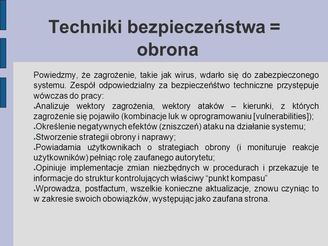 Techniki bezpieczeństwa = obrona