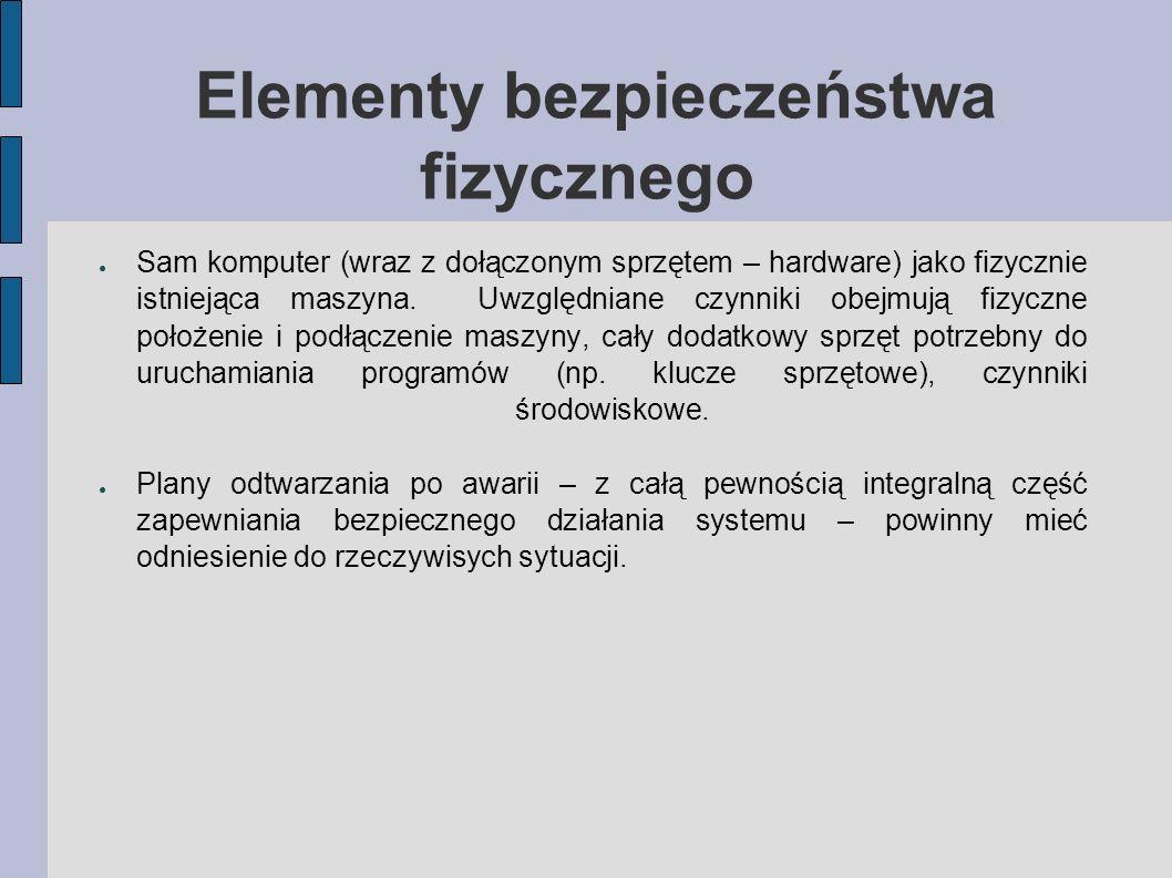 Elementy bezpieczeństwa fizycznego