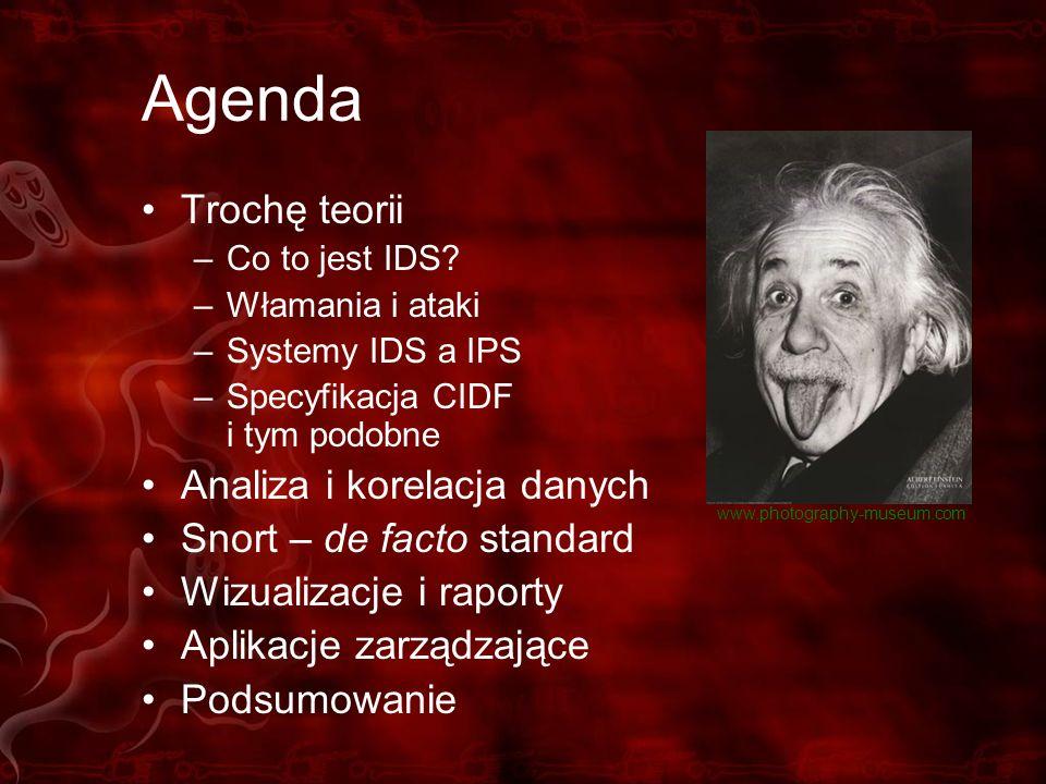 Agenda Trochę teorii Analiza i korelacja danych
