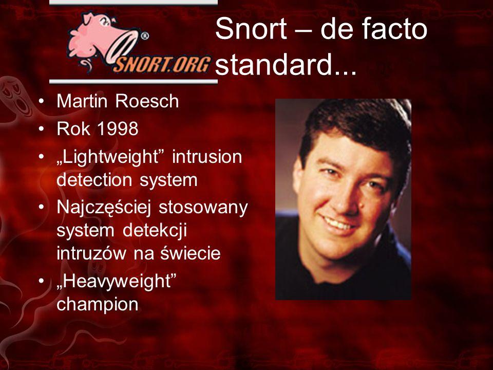 Snort – de facto standard...