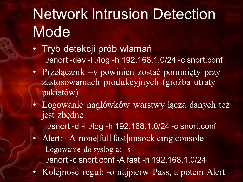 Network Intrusion Detection Mode