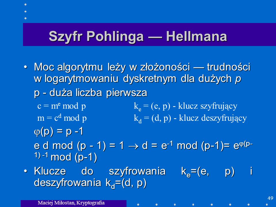 Szyfr Pohlinga — Hellmana