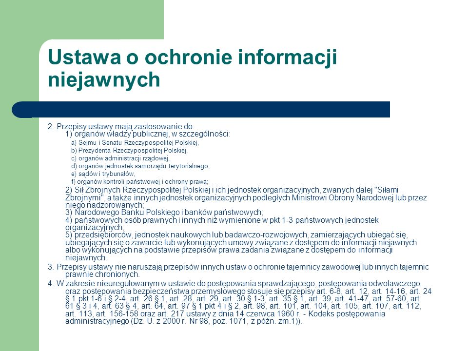 Ustawa o ochronie informacji niejawnych