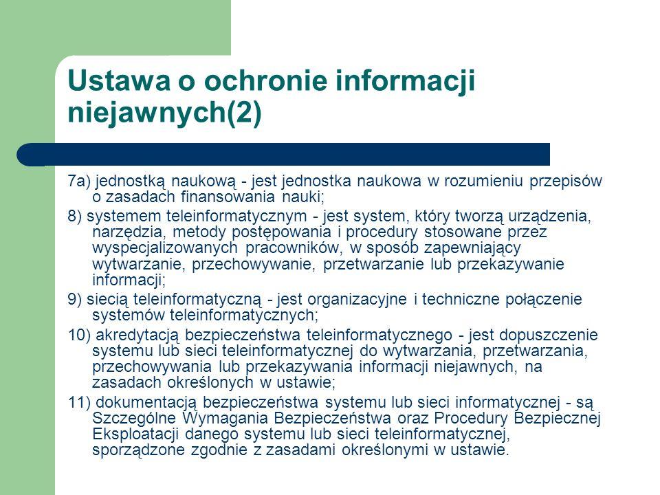 Ustawa o ochronie informacji niejawnych(2)