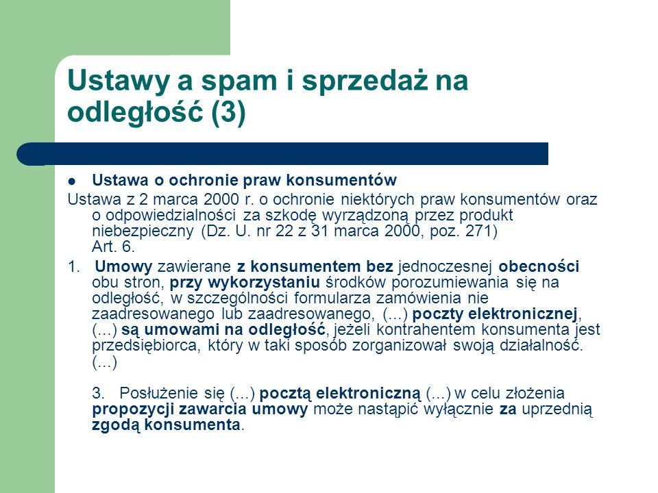 Ustawy a spam i sprzedaż na odległość (3)