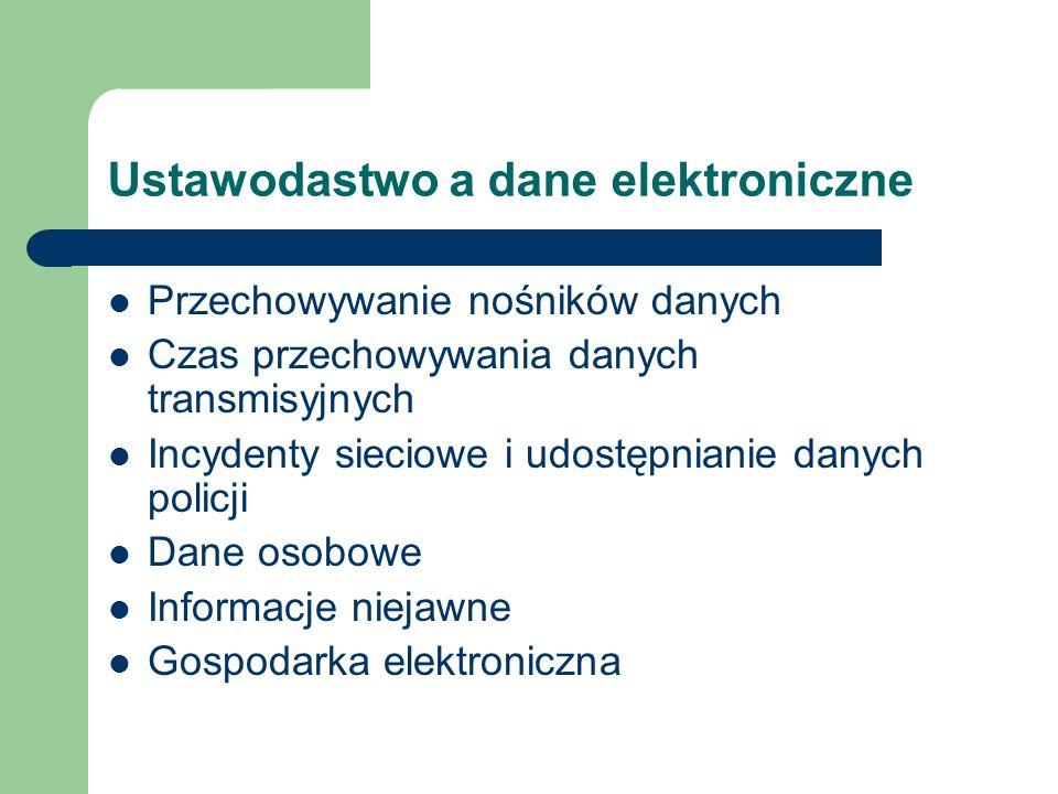 Ustawodastwo a dane elektroniczne