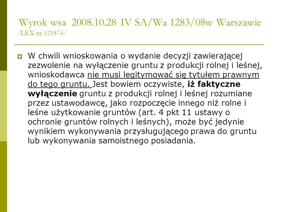 Wyrok wsa 2008.10.28 IV SA/Wa 1283/08w Warszawie /LEX nr 521874/