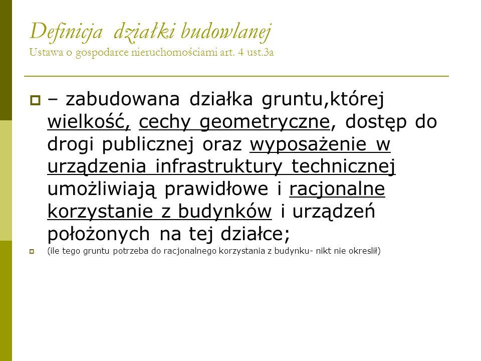 Definicja działki budowlanej Ustawa o gospodarce nieruchomościami art