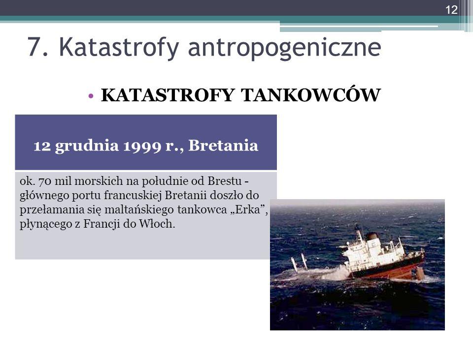 7. Katastrofy antropogeniczne