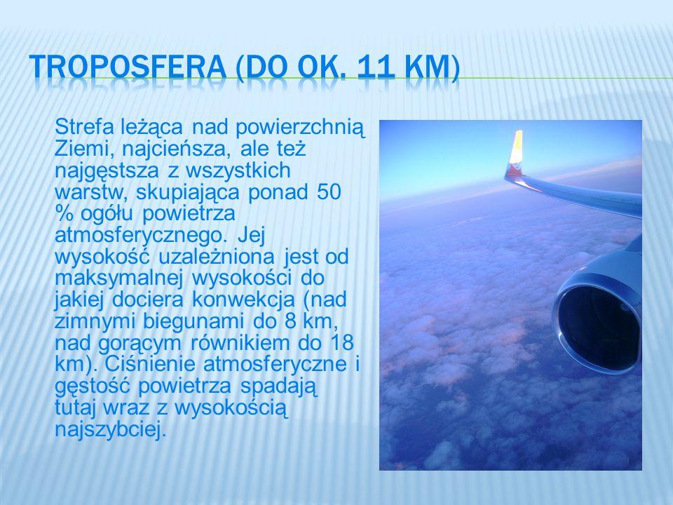 Troposfera (Do ok. 11 km)