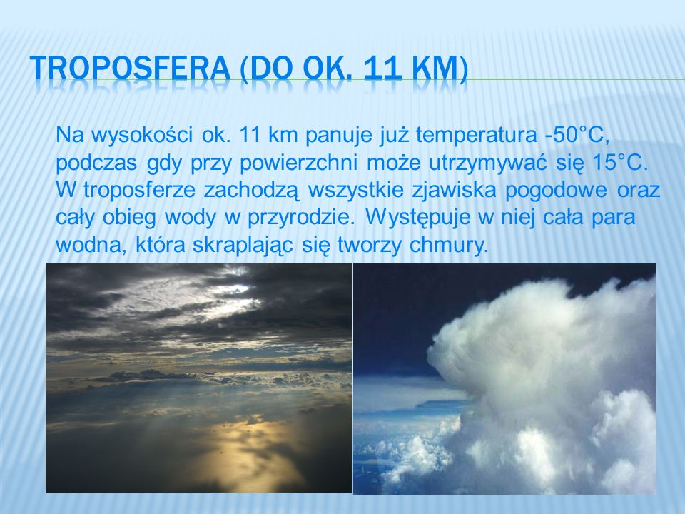 Troposfera (Do ok. 11 km)