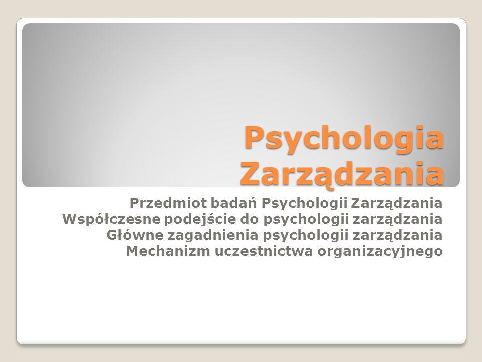 Psychologia Zarządzania