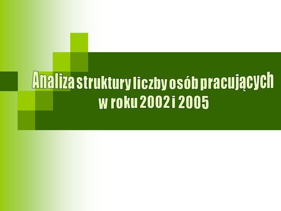 Analiza struktury liczby osób pracujących
