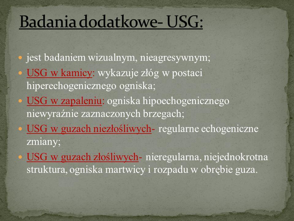 Badania dodatkowe- USG: