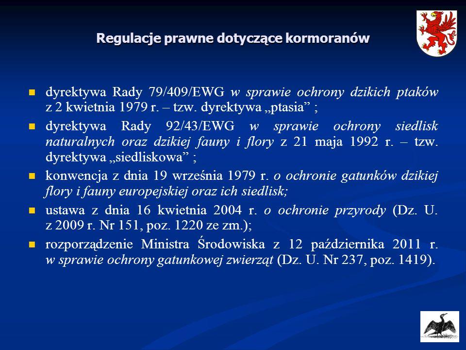 Regulacje prawne dotyczące kormoranów