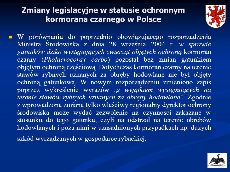 Zmiany legislacyjne w statusie ochronnym kormorana czarnego w Polsce