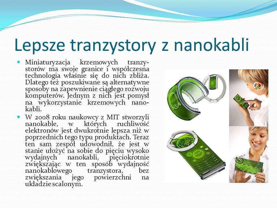 Lepsze tranzystory z nanokabli