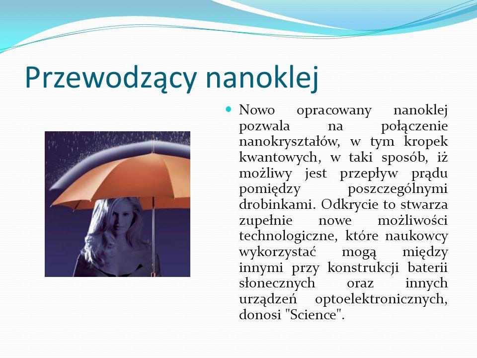 Przewodzący nanoklej