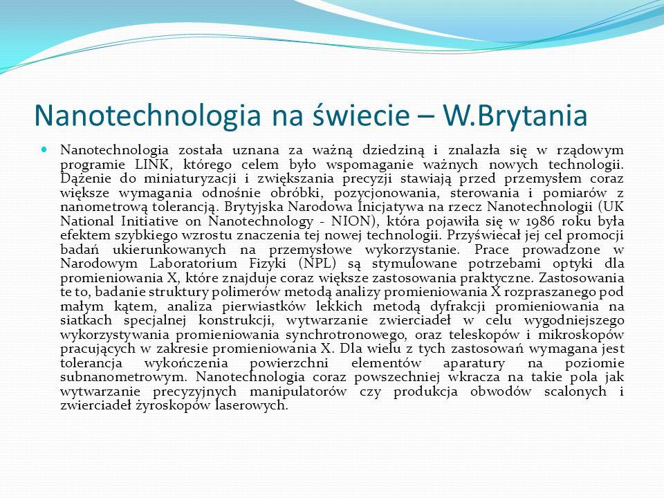 Nanotechnologia na świecie – W.Brytania