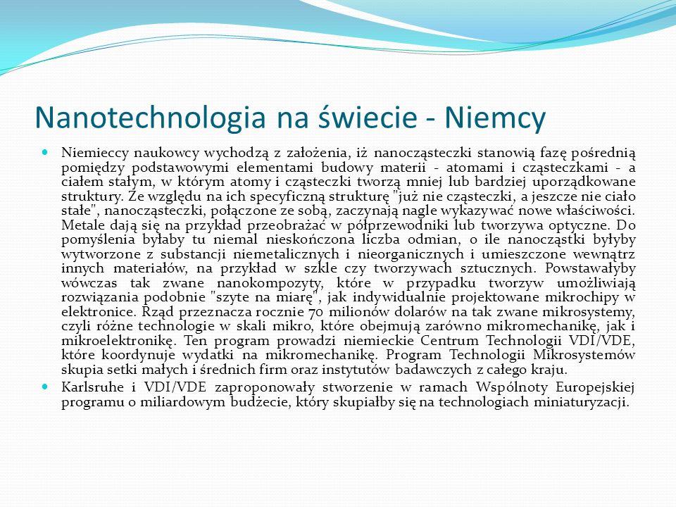 Nanotechnologia na świecie - Niemcy