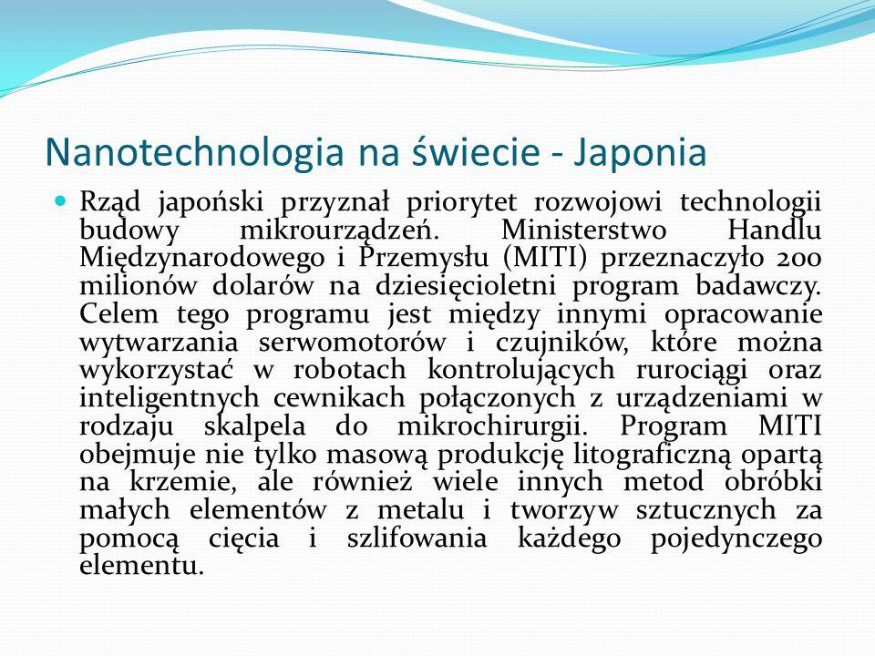 Nanotechnologia na świecie - Japonia
