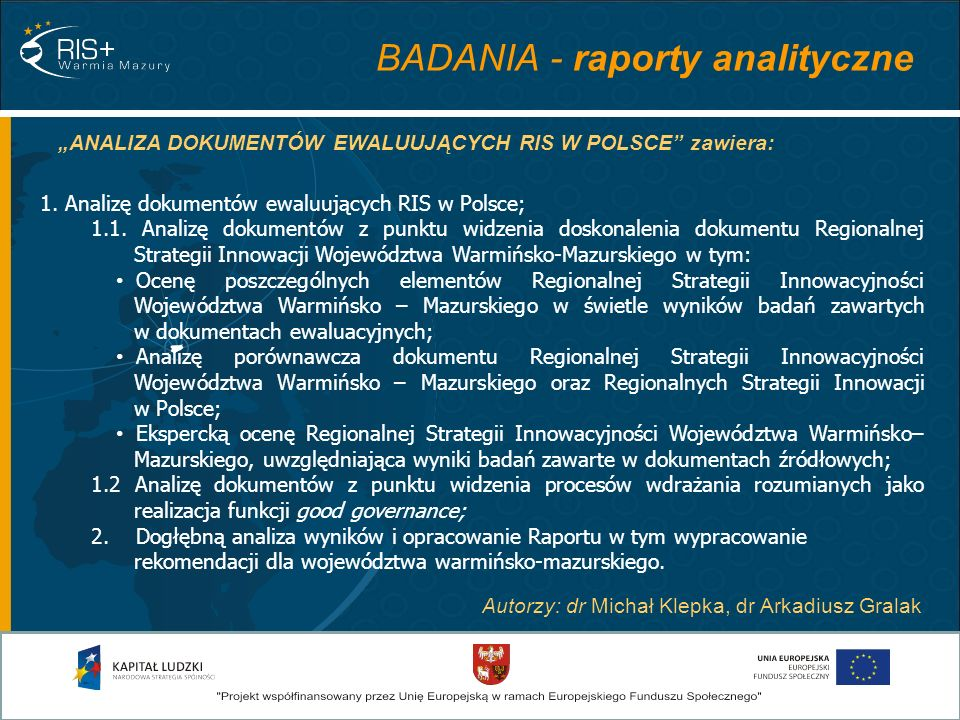 BADANIA - raporty analityczne