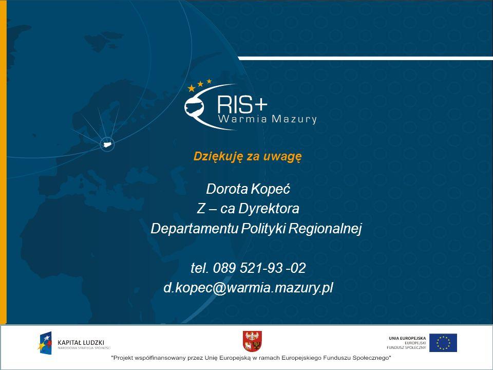 Departamentu Polityki Regionalnej
