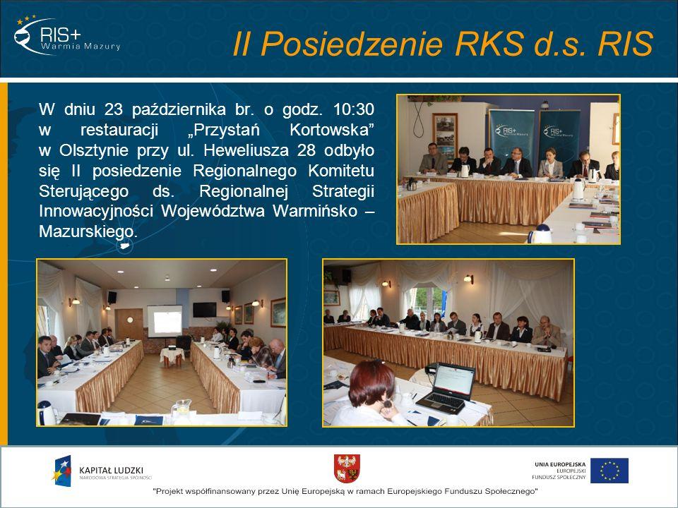 II Posiedzenie RKS d.s. RIS