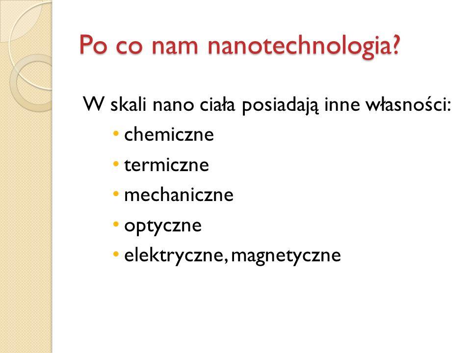 Po co nam nanotechnologia
