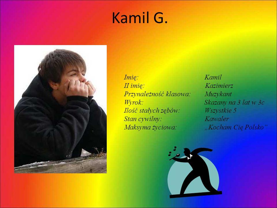 Kamil G. Imię: Kamil II imię: Kazimierz