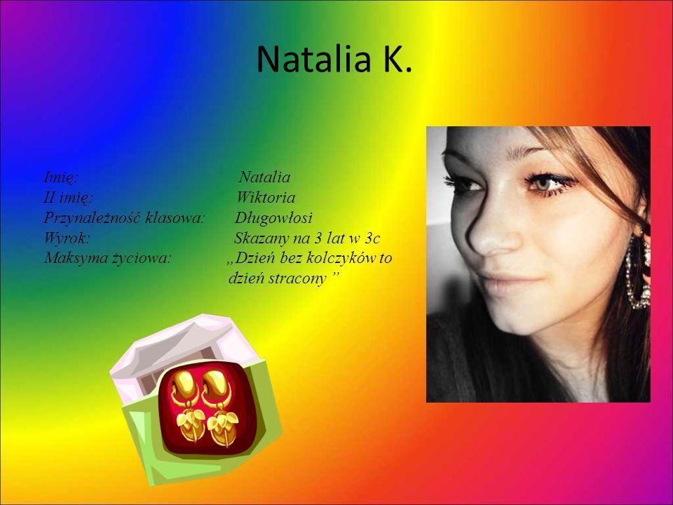 Natalia K. Imię: Natalia II imię: Wiktoria