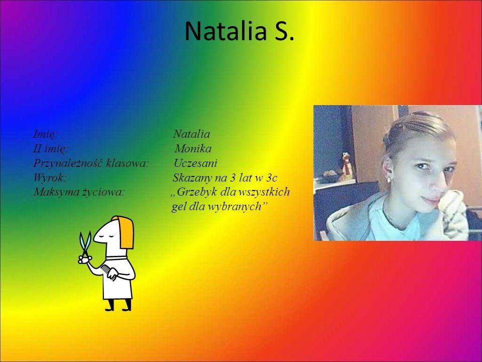 Natalia S. Imię: Natalia II imię: Monika