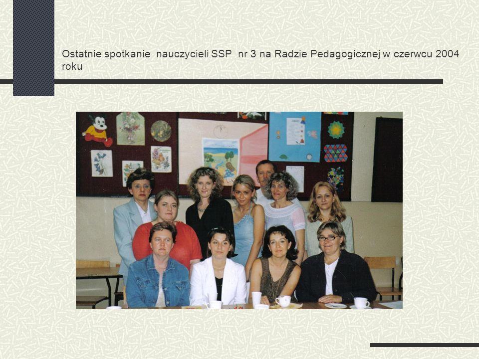 Ostatnie spotkanie nauczycieli SSP nr 3 na Radzie Pedagogicznej w czerwcu 2004 roku