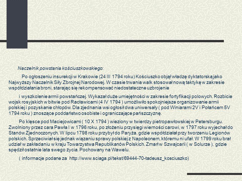 Naczelnik powstania kościuszkowskiego: