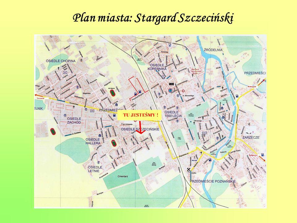 Plan miasta: Stargard Szczeciński
