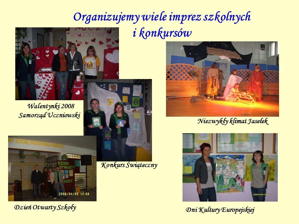 Organizujemy wiele imprez szkolnych i konkursów