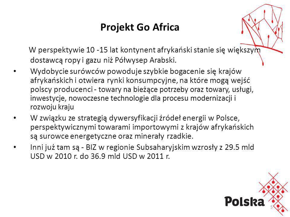 Projekt Go AfricaW perspektywie 10 -15 lat kontynent afrykański stanie się większym dostawcą ropy i gazu niż Półwysep Arabski.