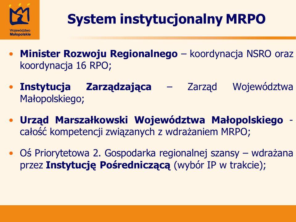 System instytucjonalny MRPO