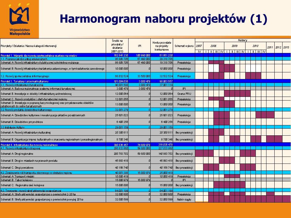 Harmonogram naboru projektów (1)