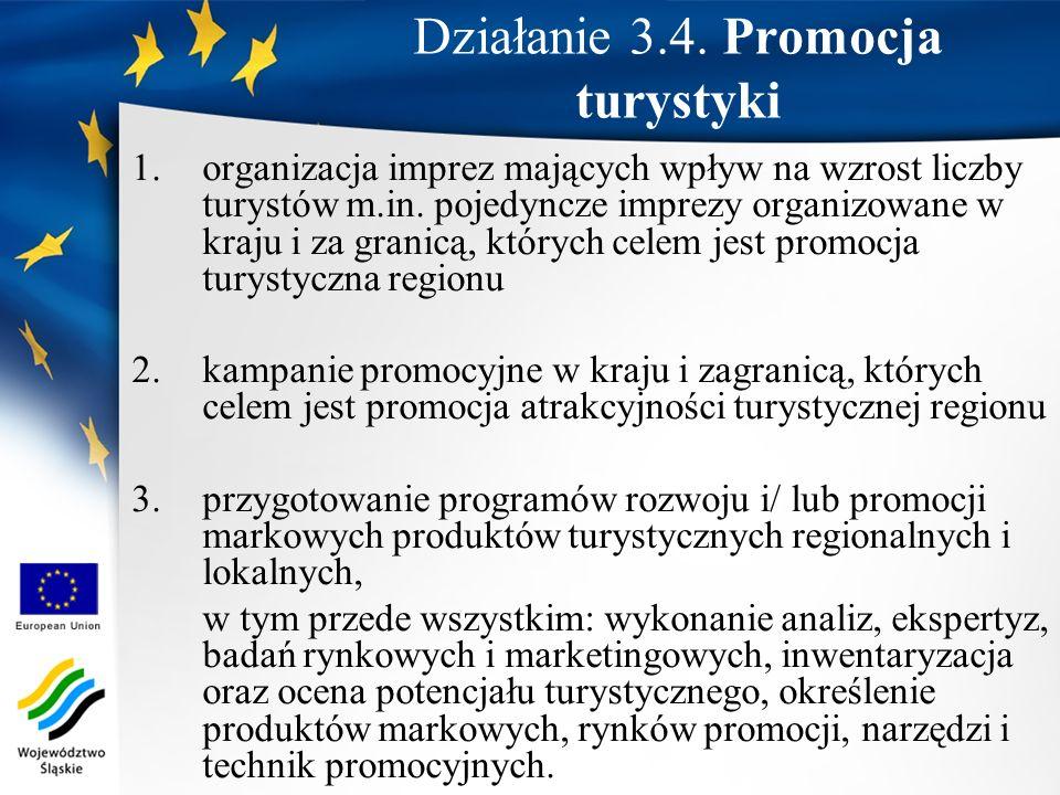 Działanie 3.4. Promocja turystyki