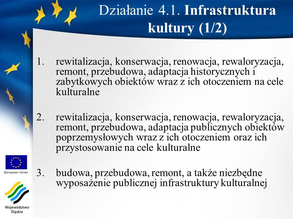 Działanie 4.1. Infrastruktura kultury (1/2)